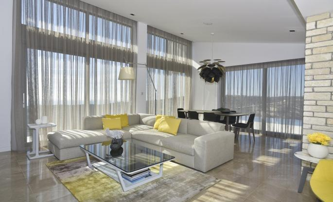 MODERN, CONTEMPORARY, MINIMALIST, SCANDINAVIAN, HOLLYWOOD GLAM living room by Takis Angelides Furnihome