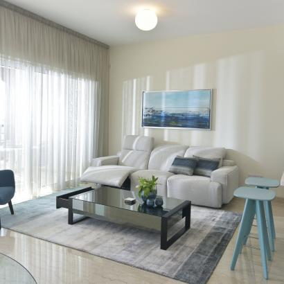 MODERN, MINIMALIST, SCANDINAVIAN, COASTAL/HAMPTONS living room by Takis Angelides Furnihome Cyprus