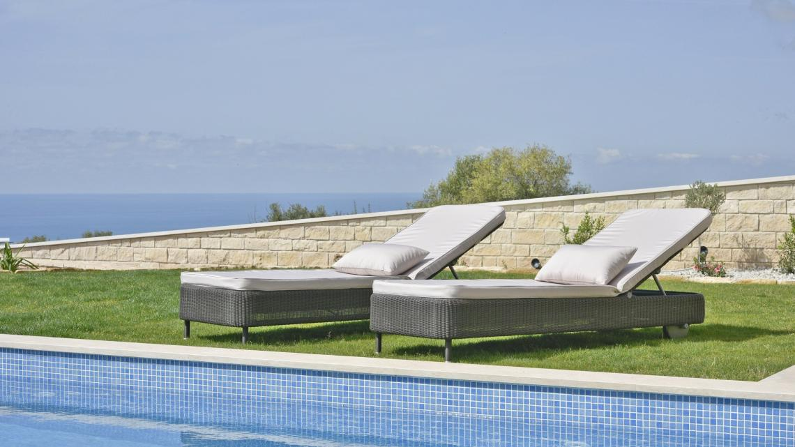 Modern Minimalist sleek simple warm inviting outdoor by Takis Angelides Furnihome Cyprus