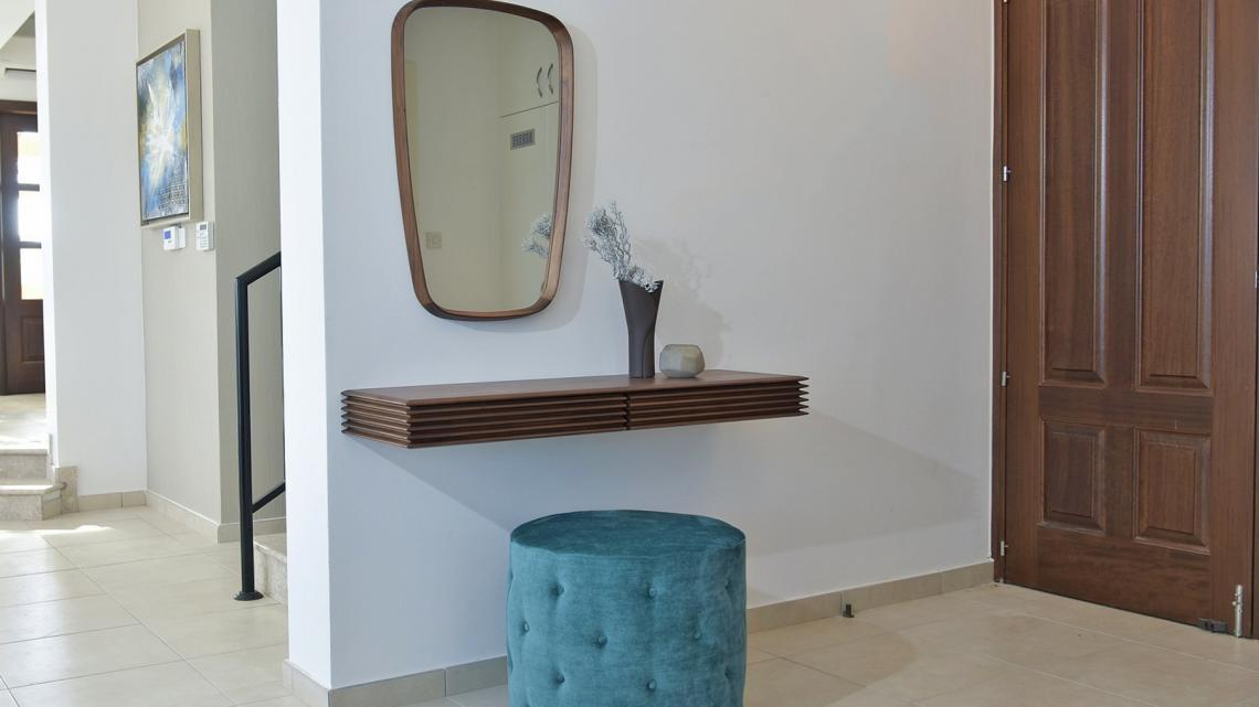 Mid-century, modern, unique, timeless, classy entrance by Takis Angelides Furnihome Cyprus